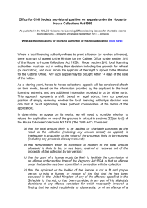 The Office for Civil Society`s (Cabinet Office`s) revised position on