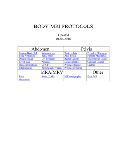 Body MRI protocols