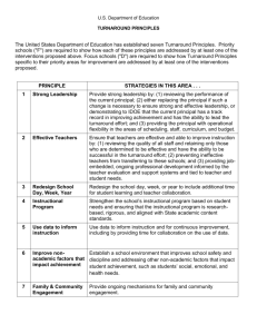 DOE – Turnaround Principles - American Student Achievement