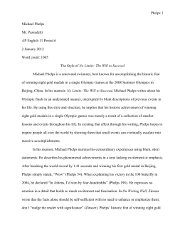 Sample Summer Reading 1 Paper