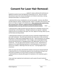 Consent Form - Smooth Laser Hair Removal