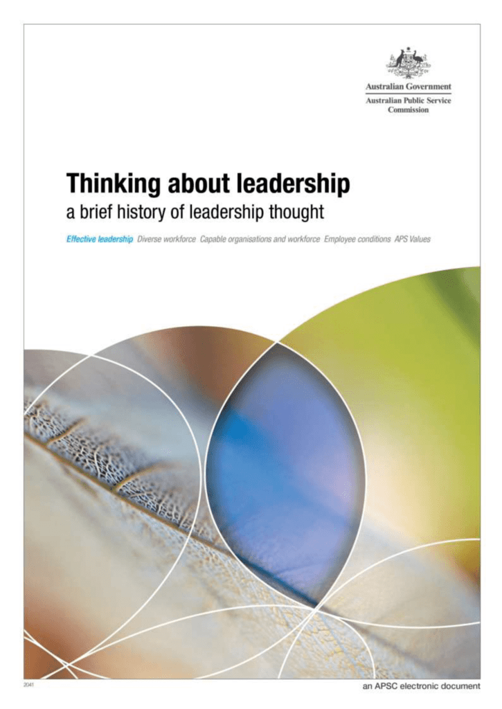 a brief history of leadership thought