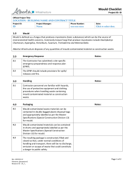 EMS Mould Checklist template - Alberta Ministry of Infrastructure