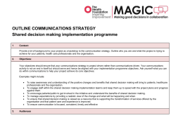 Outline Communications Strategy - Person