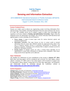 Session on Sensing and Information Extraction