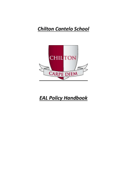 EAL Policy Handbook - Chilton Cantelo School