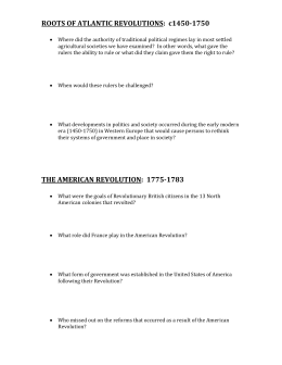 Roots of Revolution Questions
