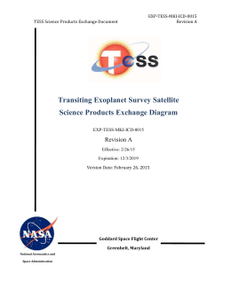 TESS Science Product Exchange Diagram