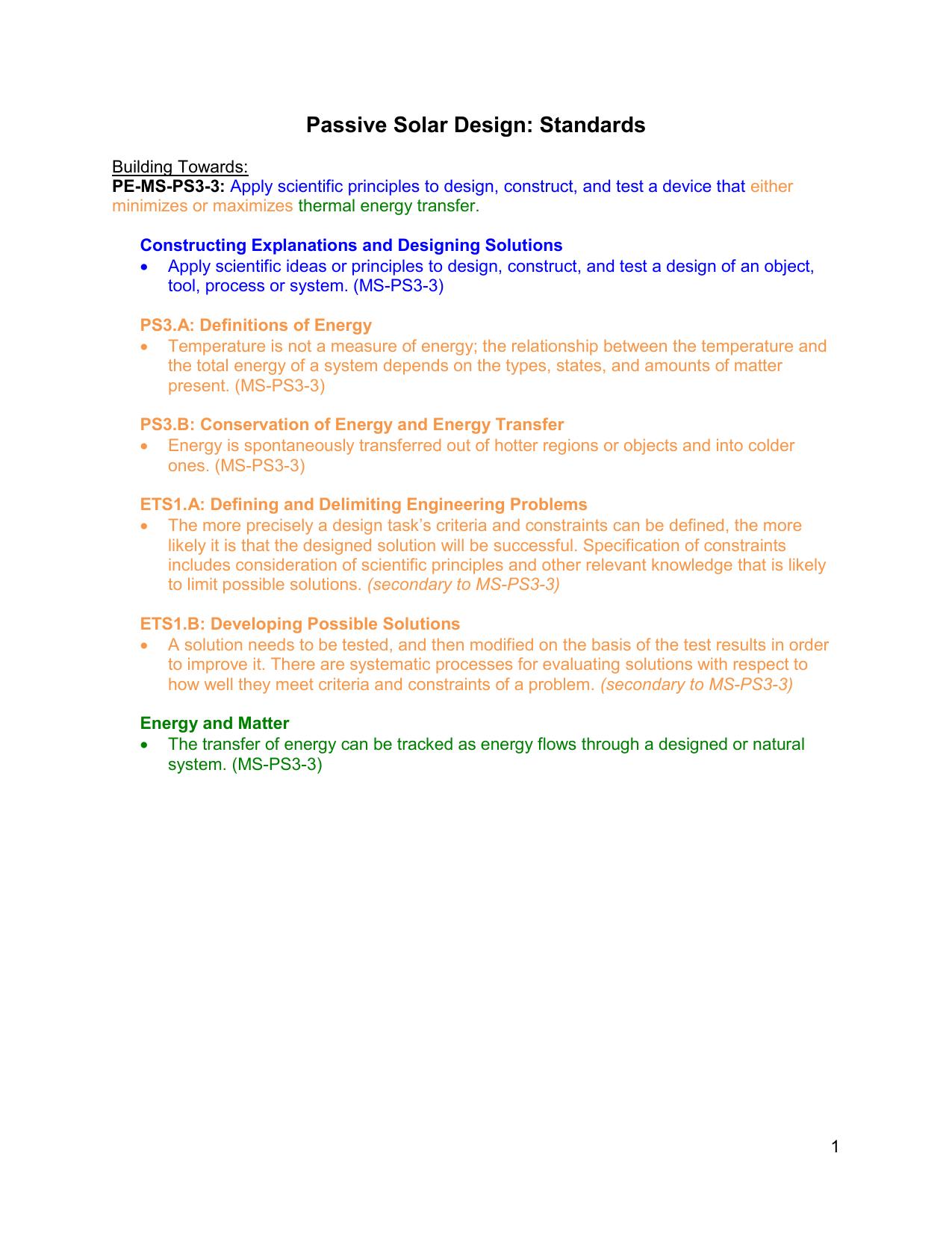 Passive Solar Design Intermediate Lesson Plan