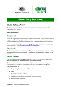 Green Army fact sheet