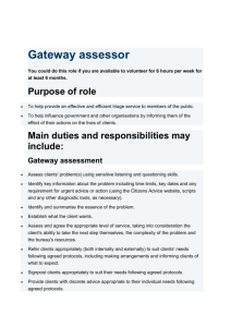 Gateway assessor - York Citizens Advice Bureau