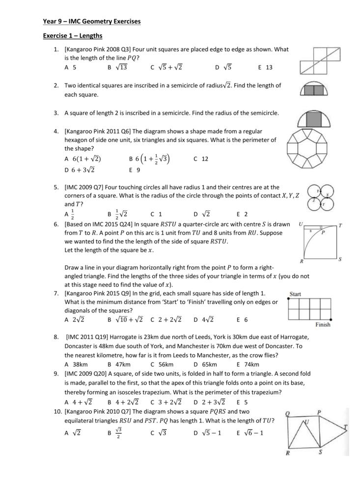 worksheet year 9 imc geometry worksheets. Black Bedroom Furniture Sets. Home Design Ideas