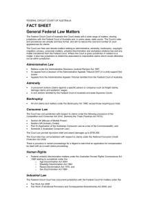 General Federal Law Matters