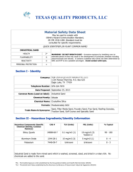 Material Data Safety Sheet