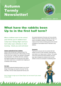 Rabbits newsletter Nov 2015