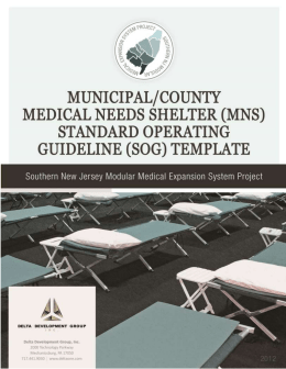 1 Municipal - County Medical Needs Shelter SOG_FINAL