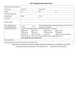 Testing Center Proctoring Exam Form
