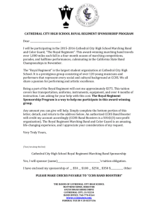 2015 Marching Band Sponsorship Letter