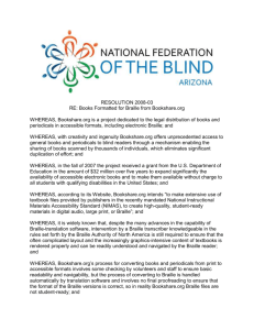 Resolution 2008-03 - National Federation of the Blind of Arizona