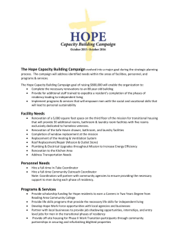 The Hope Capacity Building Campaign
