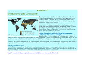 Resource #1 Introduction to global water scarcity
