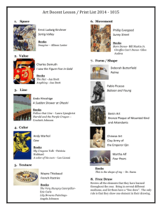 Art Docent Lesson / Print List 2014 - 1015