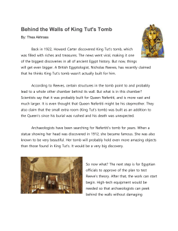 Behind the Walls of King Tut`s Tomb
