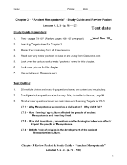 Chapter 3 Review Packet & Study Guide