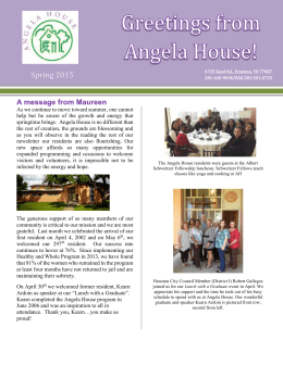 AH Newsletter Summer 2015
