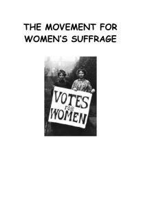 Women`s suffrage