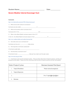 Severe Weather Internet Scavenger Hunt