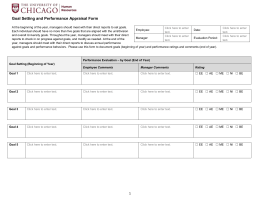 Performance Appraisal Form - The University of Chicago Human