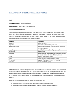 Grade 7 History work sheet 1 - Billabong High EPS International
