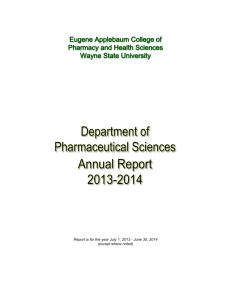 Department Annual Report, 2013-2014