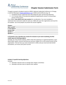 Chapter Session Submission Form