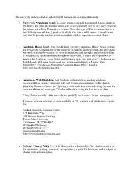 Syllabus Guidelines - Florida State University