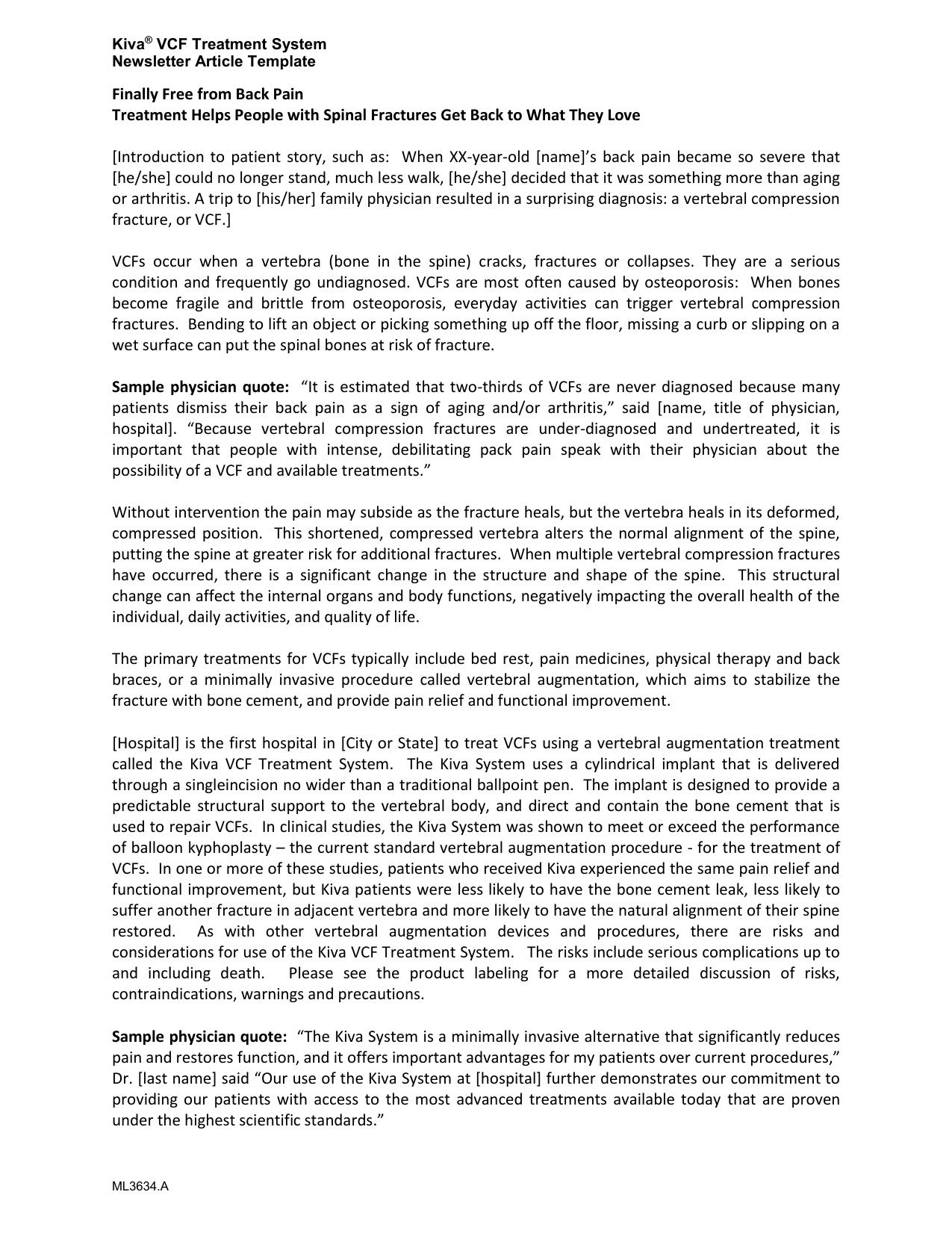 newsletter blog article template