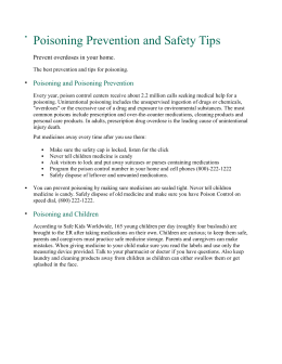 Poisoning Prevention and Safety Tips