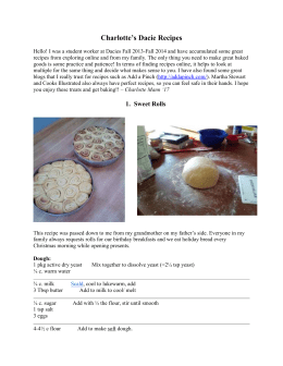 Charlotte`s Dacie Recipes