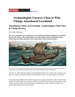 Viking Greenland contiued... and critique -