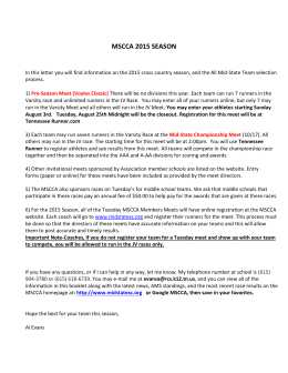 2015 MSCCA Handbook - Mid State Cross Country Association