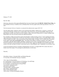 EAC memo on Bottled Water - Bemidji State University