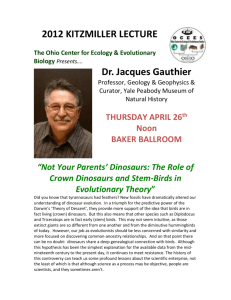 PDF FLYER for this talk - Ohio Center for Ecology & Evolutionary