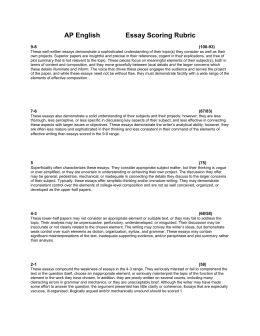 ap essay rubric scoring rubric for analytical essays