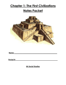 Chapter 1: The First Civilizations Notes Packet Name