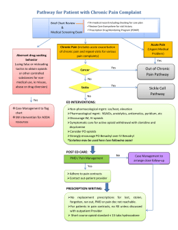 Pathway for Patient with Chronic Pain Complaint