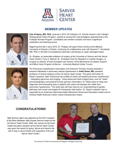 Member Updates - Sarver Heart Center