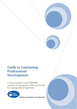 Continuing Professional Development – resource guide 2015