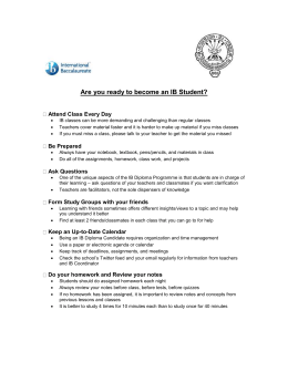 Are you ready to become an IB Student