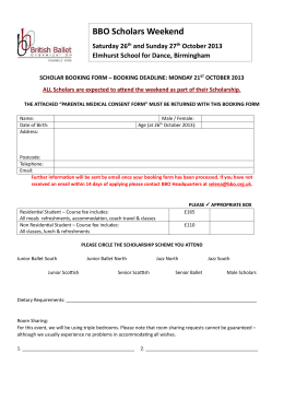 2013-SW Scholar Booking Form